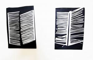 Fensterläden. Papier, 25x32cm. 2014